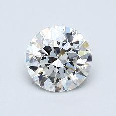 0.70 Carat ラウンド Diamond アイデアル F VVS1