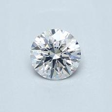 0.40 Carat 圆形 Diamond 理想 E SI1
