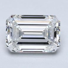 3,12-Carat Emerald Diamond Very Good D VS1