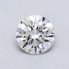 0.70 Carat Redondo Diamond Ideal E VVS2
