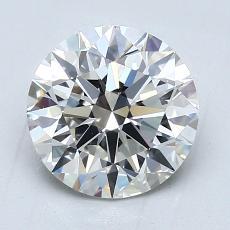2,09 Carat Rond Diamond Idéale F VVS1