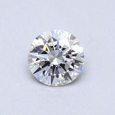 0,50 Carat Rond Diamond Idéale F VS1
