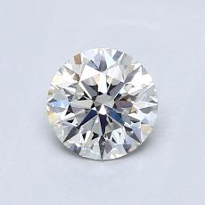 0.70-Carat Round Diamond Ideal G VVS2