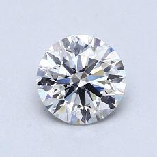 0,80 Carat Rond Diamond Idéale D VVS1
