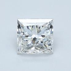 1.00 Carat 公主方形 Diamond 非常好 F SI1