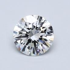 1.00-Carat Round Diamond Ideal H SI1