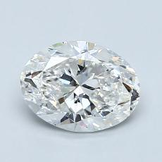 1,20-Carat Oval Diamond Very Good F SI2
