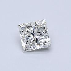0.50-Carat Princess Diamond Very Good I SI1