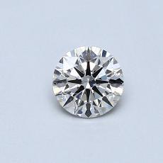 0.40-Carat Round Diamond Ideal J SI1