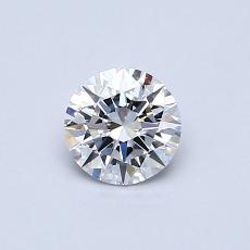 0,50-Carat Round Diamond Ideal D VVS2