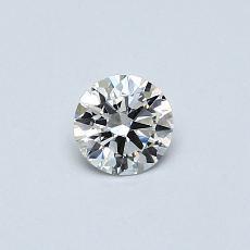 推薦鑽石 #4: 0.30 克拉圓形切割鑽石