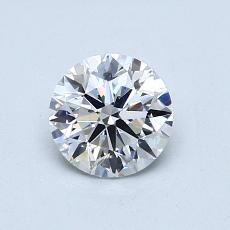 0.80-Carat Round Diamond Ideal D VS1