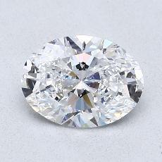 推荐宝石 3:1.00克拉椭圆形切割钻石