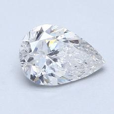 1,00-Carat Pear Diamond Very Good F SI2