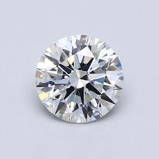 0.79-Carat Round Diamond Ideal E VS1