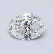 0,90-Carat Oval Diamond Very Good D VS2
