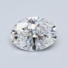 0.81-Carat Oval Diamond Very Good D VS2