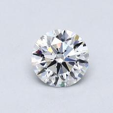 0.52-Carat Round Diamond Ideal D VVS2