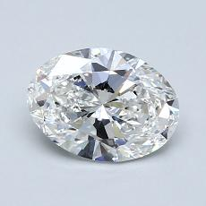 1,00-Carat Oval Diamond Very Good E VVS1