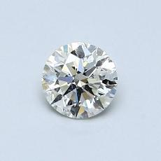 0.54-Carat Round Diamond Ideal K SI2