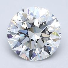 1.90 Carat ラウンド Diamond アイデアル G VS1