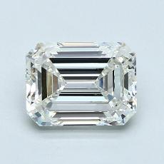 Pierre cible: Diamant taille émeraude 2,01 carat