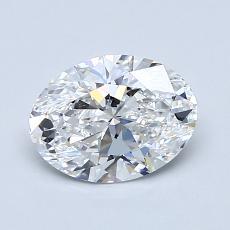 1.05-Carat Oval Diamond Very Good E VS1