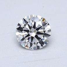 0,70-Carat Round Diamond Ideal D SI1