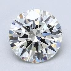 2.01-Carat Round Diamond Ideal J VVS2