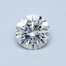 0,70 Carat Rond Diamond Idéale D VVS2