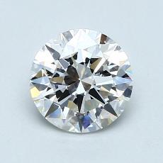 1.00-Carat Round Diamond Ideal D VVS1