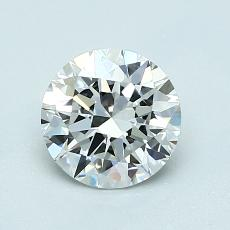1.00-Carat Round Diamond Ideal E VVS1