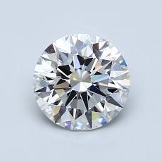 1.02 Carat ラウンド Diamond アイデアル F VVS2