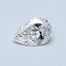 0.50-Carat Pear Diamond Very Good F VS1