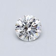 0.52-Carat Round Diamond Ideal F VVS2