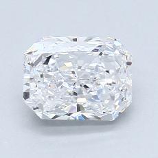 1.29-Carat Radiant Diamond Very Good D VS1