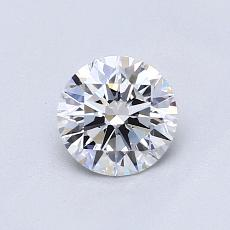 0,70 Carat Rond Diamond Idéale D VS1