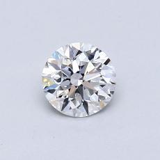 0.50-Carat Round Diamond Ideal D VS1