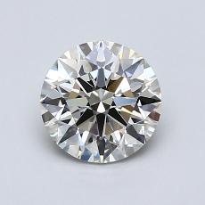 1.02-Carat Round Diamond Ideal K VVS2