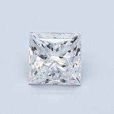 Recommended Stone #3: 0,80-Carat Princess Cut