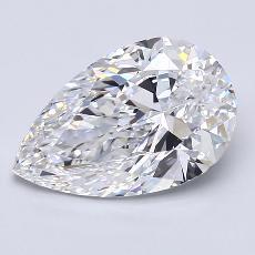 Pierre recommandée n°3: Diamant taille poire 2,70carats