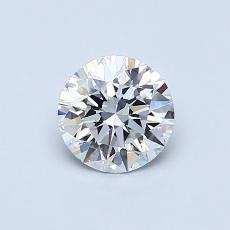 0.61 Carat 圓形 Diamond 理想 E VS1