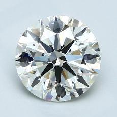 1,80 Carat Rond Diamond Idéale K VVS2