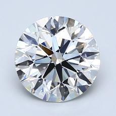 1.90-Carat Round Diamond Ideal H VS1