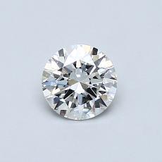 0.50 Carat 圓形 Diamond 理想 H VVS1