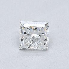 0.50 Carat 公主方形 Diamond 非常好 E VVS2