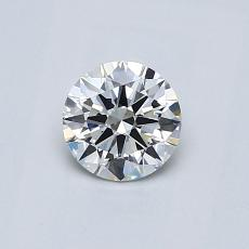 0.50-Carat Round Diamond Ideal H VVS2