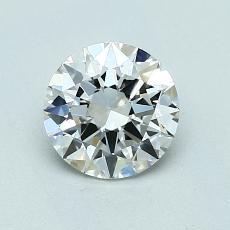 0,90 Carat Rond Diamond Idéale G IF