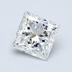 1.04-Carat Princess Diamond Very Good E VVS2