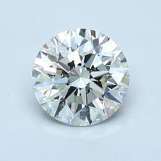 1.00-Carat Round Diamond Ideal I VS1